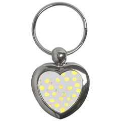 Cute Fruit Cerry Yellow Green Pink Key Chains (heart)  by Mariart