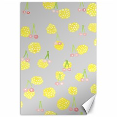 Cute Fruit Cerry Yellow Green Pink Canvas 24  X 36  by Mariart