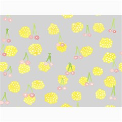 Cute Fruit Cerry Yellow Green Pink Canvas 36  X 48   by Mariart