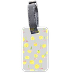 Cute Fruit Cerry Yellow Green Pink Luggage Tags (one Side)  by Mariart