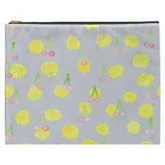 Cute Fruit Cerry Yellow Green Pink Cosmetic Bag (xxxl)  by Mariart