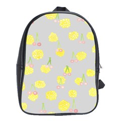 Cute Fruit Cerry Yellow Green Pink School Bag (xl) by Mariart