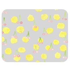 Cute Fruit Cerry Yellow Green Pink Double Sided Flano Blanket (medium)  by Mariart