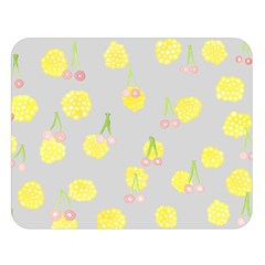 Cute Fruit Cerry Yellow Green Pink Double Sided Flano Blanket (large)  by Mariart