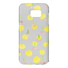Cute Fruit Cerry Yellow Green Pink Samsung Galaxy S7 Edge Hardshell Case by Mariart