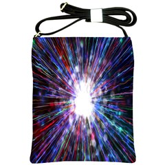 Seamless Animation Of Abstract Colorful Laser Light And Fireworks Rainbow Shoulder Sling Bags by Mariart