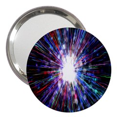 Seamless Animation Of Abstract Colorful Laser Light And Fireworks Rainbow 3  Handbag Mirrors by Mariart