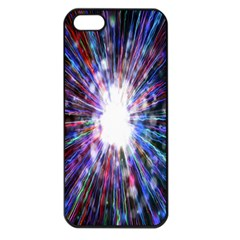 Seamless Animation Of Abstract Colorful Laser Light And Fireworks Rainbow Apple Iphone 5 Seamless Case (black) by Mariart