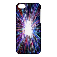 Seamless Animation Of Abstract Colorful Laser Light And Fireworks Rainbow Apple Iphone 5c Hardshell Case by Mariart