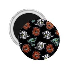 Pattern Halloween Werewolf Mummy Vampire Icreate 2 25  Magnets by iCreate
