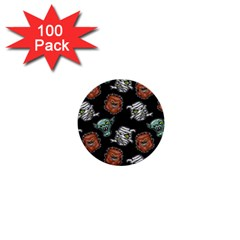 Pattern Halloween Werewolf Mummy Vampire Icreate 1  Mini Buttons (100 Pack)  by iCreate