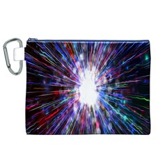 Seamless Animation Of Abstract Colorful Laser Light And Fireworks Rainbow Canvas Cosmetic Bag (xl) by Mariart