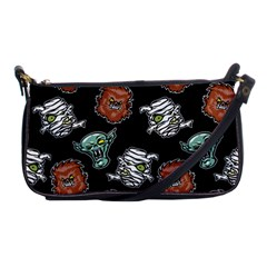 Pattern Halloween Werewolf Mummy Vampire Icreate Shoulder Clutch Bags by iCreate