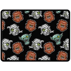 Pattern Halloween Werewolf Mummy Vampire Icreate Double Sided Fleece Blanket (large)  by iCreate