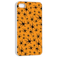 Pattern Halloween Black Spider Icreate Apple Iphone 4/4s Seamless Case (white) by iCreate