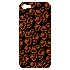 Pattern Halloween Jackolantern Apple Iphone 5 Hardshell Case by iCreate