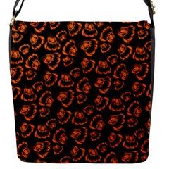 Pattern Halloween Jackolantern Flap Messenger Bag (s) by iCreate
