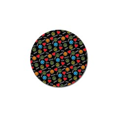 Pattern Halloween Peacelovevampires  Icreate Golf Ball Marker by iCreate