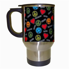 Pattern Halloween Peacelovevampires  Icreate Travel Mugs (white) by iCreate