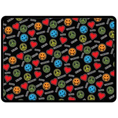 Pattern Halloween Peacelovevampires  Icreate Fleece Blanket (large)  by iCreate
