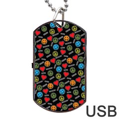 Pattern Halloween Peacelovevampires  Icreate Dog Tag Usb Flash (two Sides) by iCreate