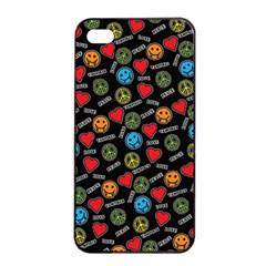 Pattern Halloween Peacelovevampires  Icreate Apple Iphone 4/4s Seamless Case (black) by iCreate