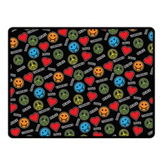 Pattern Halloween Peacelovevampires  Icreate Double Sided Fleece Blanket (small)  by iCreate