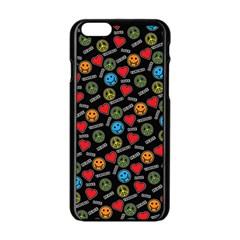 Pattern Halloween Peacelovevampires  Icreate Apple Iphone 6/6s Black Enamel Case by iCreate