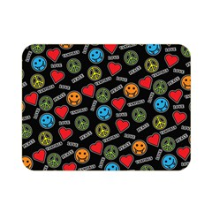 Pattern Halloween Peacelovevampires  Icreate Double Sided Flano Blanket (mini)  by iCreate