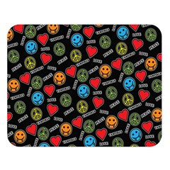 Pattern Halloween Peacelovevampires  Icreate Double Sided Flano Blanket (large)  by iCreate