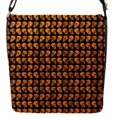 Halloween Color Skull Heads Flap Messenger Bag (s) by iCreate