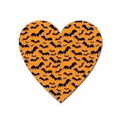 Pattern Halloween Bats  Icreate Heart Magnet