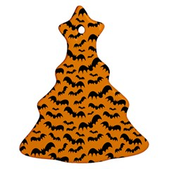 Pattern Halloween Bats  Icreate Christmas Tree Ornament (two Sides) by iCreate