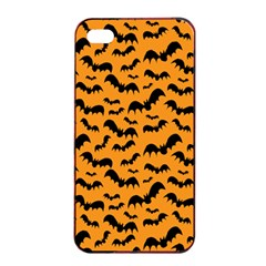 Pattern Halloween Bats  Icreate Apple Iphone 4/4s Seamless Case (black) by iCreate