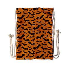 Pattern Halloween Bats  Icreate Drawstring Bag (small) by iCreate