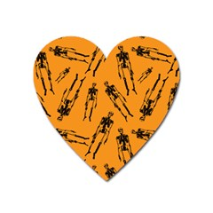 Halloween Skeletons  Heart Magnet by iCreate