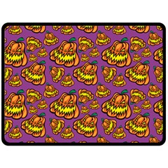 Halloween Colorful Jackolanterns  Double Sided Fleece Blanket (large)  by iCreate