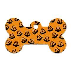 Halloween Jackolantern Pumpkins Icreate Dog Tag Bone (one Side)