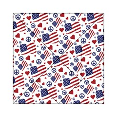 Peace Love America Icreate Acrylic Tangram Puzzle (6  X 6 ) by iCreate