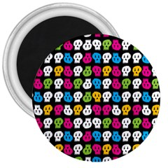 Pattern Painted Skulls Icreate 3  Magnets by iCreate