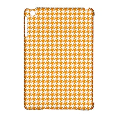 Friendly Houndstooth Pattern, Orange Apple Ipad Mini Hardshell Case (compatible With Smart Cover) by MoreColorsinLife