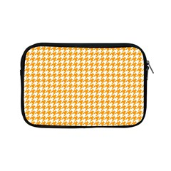 Friendly Houndstooth Pattern, Orange Apple Ipad Mini Zipper Cases by MoreColorsinLife