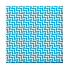 Friendly Houndstooth Pattern,aqua Tile Coasters by MoreColorsinLife