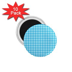Friendly Houndstooth Pattern,aqua 1 75  Magnets (10 Pack)  by MoreColorsinLife