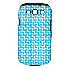 Friendly Houndstooth Pattern,aqua Samsung Galaxy S Iii Classic Hardshell Case (pc+silicone) by MoreColorsinLife