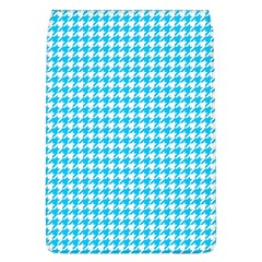 Friendly Houndstooth Pattern,aqua Flap Covers (l)  by MoreColorsinLife
