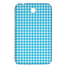 Friendly Houndstooth Pattern,aqua Samsung Galaxy Tab 3 (7 ) P3200 Hardshell Case  by MoreColorsinLife