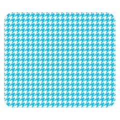 Friendly Houndstooth Pattern,aqua Double Sided Flano Blanket (small)  by MoreColorsinLife
