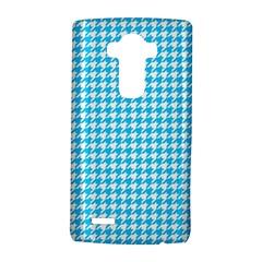 Friendly Houndstooth Pattern,aqua Lg G4 Hardshell Case by MoreColorsinLife