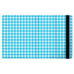 Friendly Houndstooth Pattern,aqua Apple Ipad Pro 9 7   Flip Case by MoreColorsinLife